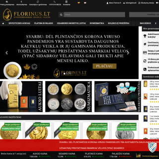 Investicinis auksas - Sidabras - Valiuta - FLORINUS.LT