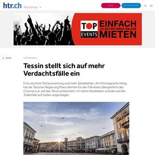 Tessin stellt sich auf mehr Verdachtsfälle ein - htr.ch