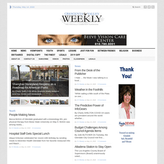 Crescenta Valley Weekly - The Foothills Community Newspaper