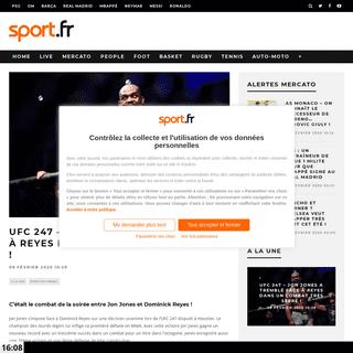 UFC 247 - Jon Jones a tremblé face à Reyes dans un combat très serré ! - Sport.fr