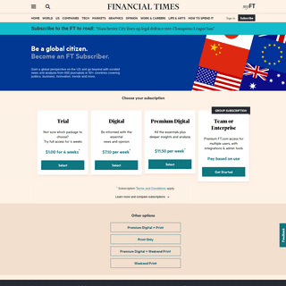 Subscribe to read - Financial Times