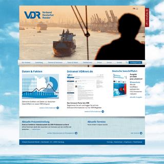 Verband Deutscher Reeder- Startseite