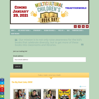 Multicultural Children's Book Day - #ReadYourWorld