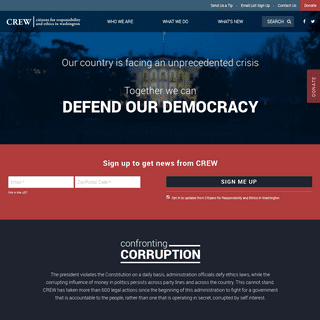 CREW - Together We Can Defend Our Democracy