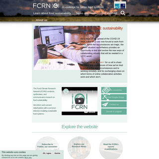 Home - Food Climate Research Network (FCRN)