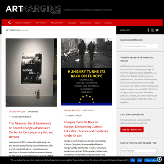 ARTMargins - Contemporary art across the evolving global peripheries
