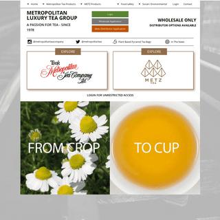The Metropolitan Tea Company Inc. - Metropolitan Tea Group Home