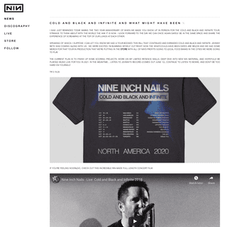 nine inch nails - the official website