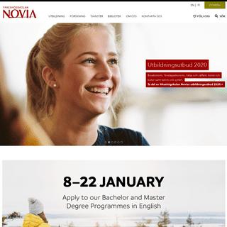Yrkeshögskolan Novia erbjuder bl.a. utbildning på tredje stadiet i gemensamma ansökan » novia.fi