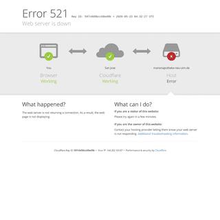 marienapotheke-neu-ulm.de - 521- Web server is down