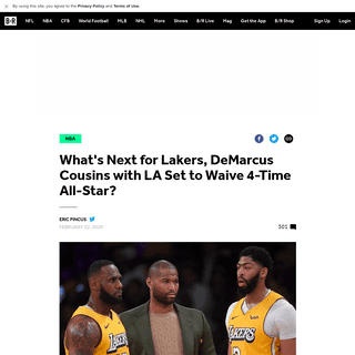 What's Next for Lakers, DeMarcus Cousins with LA Set to Waive 4-Time All-Star- - Bleacher Report - Latest News, Videos and Highl