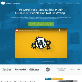 #1 WordPress Page Builder Plugin - WPBakery Page Builder