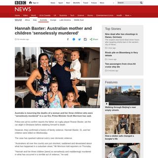 Hannah Baxter- Australian mother and children 'senselessly murdered' - BBC News