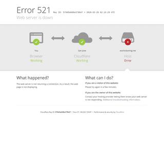 workisboring.net - 521- Web server is down
