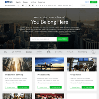 Wall Street Oasis - Investment Banking & Finance Community