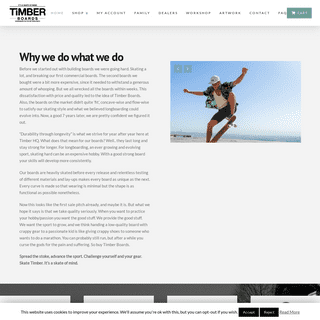 Timber Boards - It's a skate of mind
