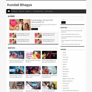 Kundali Bhagya Zee Tv Full Episodes Hindi Drama Serial