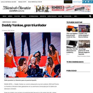 Daddy Yankee, gran triunfador - El Diario de Yucatán