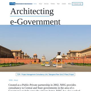 ArchiveBay.com - nisg.org - NISG Home - National Institute for Smart Government