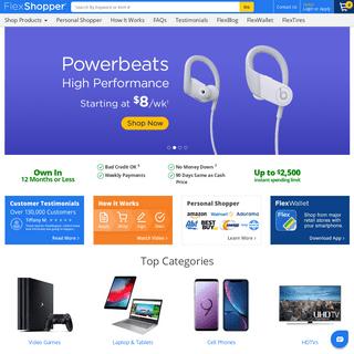Rent to own Computers, Electronics, Appliances, Furniture - FlexShopper