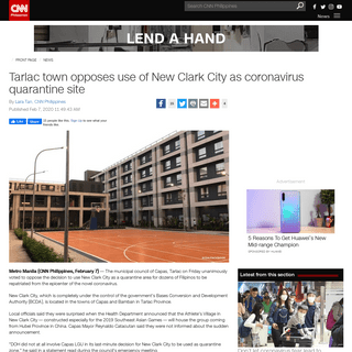 ArchiveBay.com - cnnphilippines.com/news/2020/2/7/Novel-coronavirus-New-Clark-City-Capas-Tarlac-quarantine.html?fbclid=IwAR3feiyJozBpmfML1mC3Psd5SNYy26ViajUht5DrZyx4ftd-T1WpgGD_uz4 - Tarlac town opposes use of New Clark City as coronavirus quarantine site