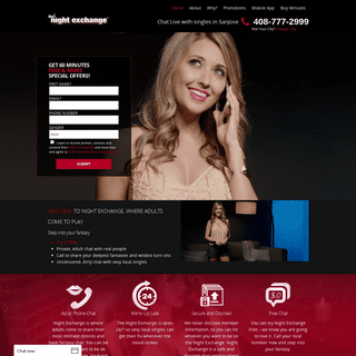 Night Exchange - Phone Chat with Local Singles - Free Trial