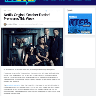 Netflix Original 'October Faction' Premieres This Week - FanBolt