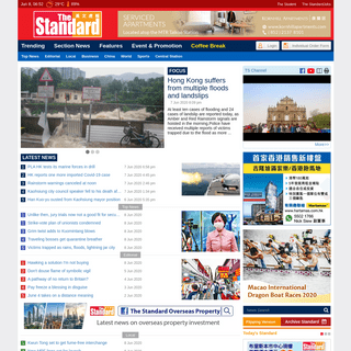 Breaking News, HK & World News, Editorial - The Standard 英文虎報