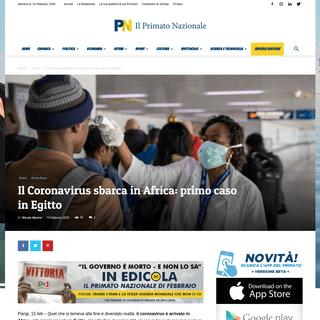 Il Coronavirus sbarca in Africa- primo caso in Egitto - Il Primato Nazionale