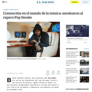 Conmoción en el mundo de la música- asesinaron al rapero Pop Smoke - LA NACION