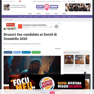 Brunori Sas candidato ai David di Donatello 2020