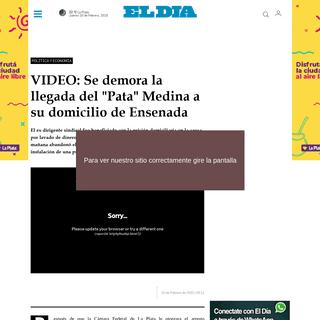 ArchiveBay.com - www.eldia.com/nota/2020-2-19-8-11-0-el-pata-medina-ya-salio-del-penal-de-ezeiza-y-es-inminente-el-traslado-a-su-domicilio-politica-y-economia - VIDEO- Se demora la llegada del -Pata- Medina a su domicilio de Ensenada - Política y Economía