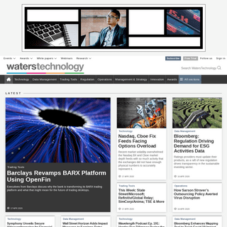 WatersTechnology - global financial technology news and analysis