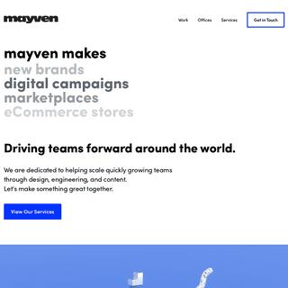 Mayven - Design & Development - San Francisco, Los Angeles, & Austin