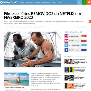 Filmes e séries REMOVIDOS da NETFLIX em FEVEREIRO 2020