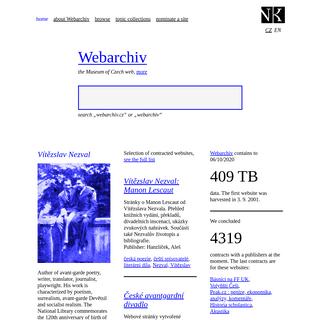 ArchiveBay.com - webarchiv.cz - The Museum of Czech web - Webarchiv.cz