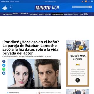 ArchiveBay.com - www.minutoneuquen.com/entretenimiento/2020/2/19/por-dios-hace-eso-en-el-bano-la-pareja-de-esteban-lamothe-saco-la-luz-datos-sobre-la-intimidad-del-actor-189281.html - ¡Por dios! ¿Hace eso en el baño- La pareja de Esteban Lamothe sacó a la luz datos sobre la vida privada del actor - Minuto N