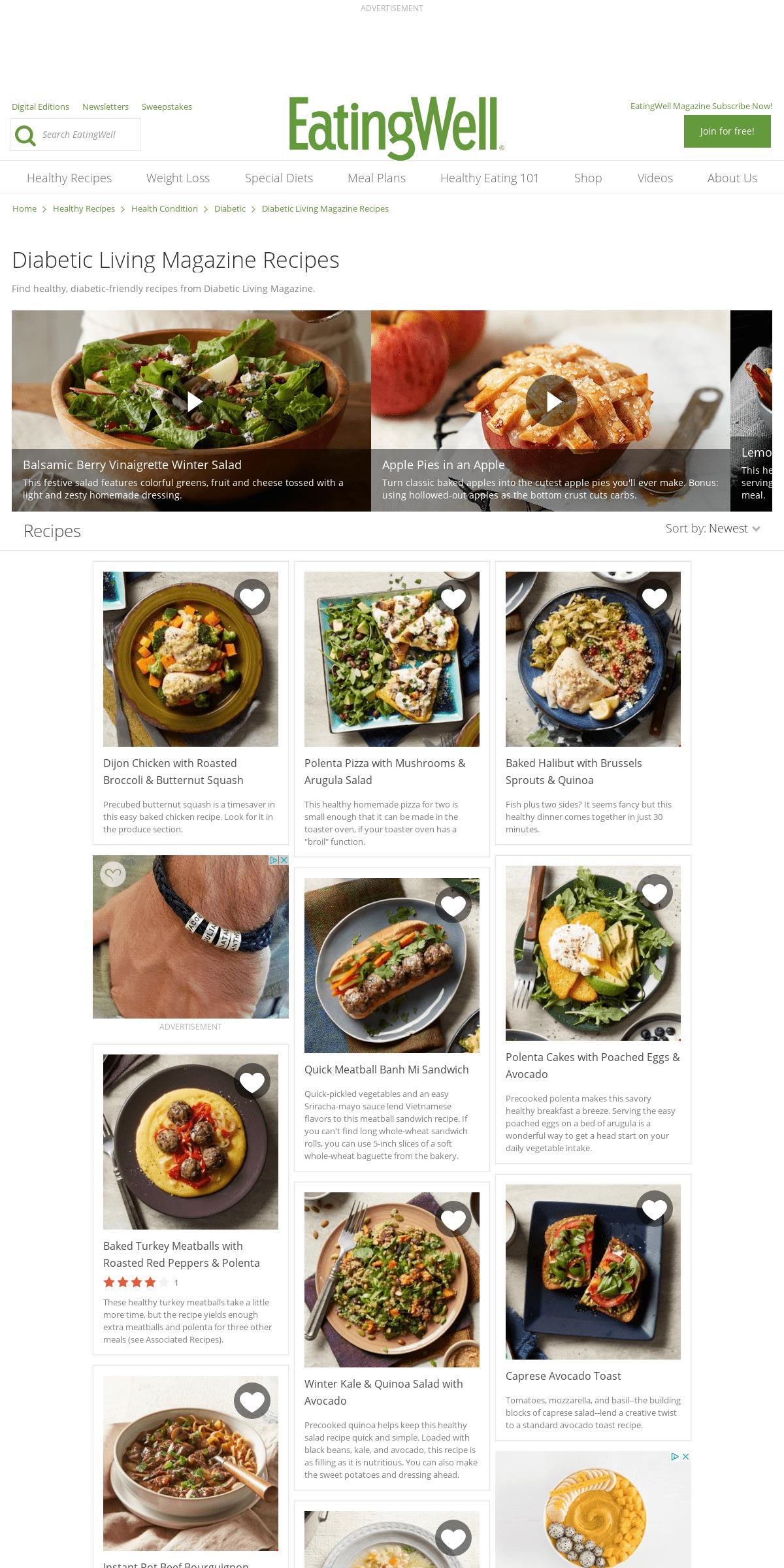 Diabetic Living Magazine Recipes - EatingWell