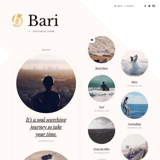 Bari – Photoblog theme