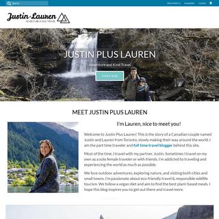 Justin Plus Lauren - Adventure and Vegan Travel