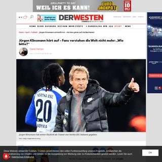 ArchiveBay.com - www.derwesten.de/sport/fussball/juergen-klinsmann-hertha-bsc-trainer-id228393861.html - Jürgen Klinsmann schmeißt hin – die Fans gehen auf die Barrikaden - derwesten.de