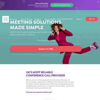 PowWowNow - Trusted Online Meeting Solution Provider