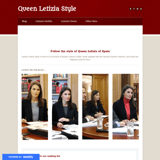 ArchiveBay.com - queenletiziastyle.com - Queen Letizia Style - Follow the life and style of Queen Letizia of Spain
