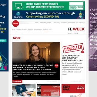 ArchiveBay.com - feweek.co.uk - FE Week - Further education, skills & apprenticeships news