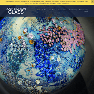 Josh Simpson Contemporary Glass- Welcome to Josh's Home Website