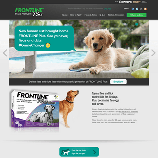 Dual Action Topical Flea & Tick Control for Dogs & Cats - FRONTLINE® Plus
