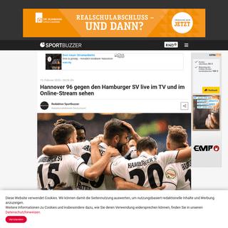 Hannover 96 gegen den Hamburger SV live im TV und im Online-Stream sehen - Sportbuzzer.de