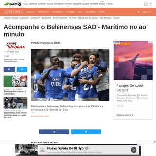 ArchiveBay.com - desporto.sapo.pt/futebol/primeira-liga/artigos/acompanhe-o-belenenses-sad-maritimo-no-ao-minuto - Acompanhe o Belenenses SAD - Marítimo no ao minuto - Futebol - SAPO Desporto