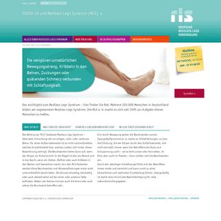 Rest Legs Syndrom - RLS e. V. - Deutsche Restless Legs Vereinigung