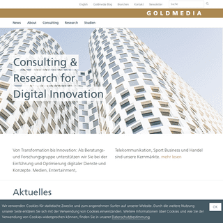 Goldmedia Consulting & Research for Digital Innovation